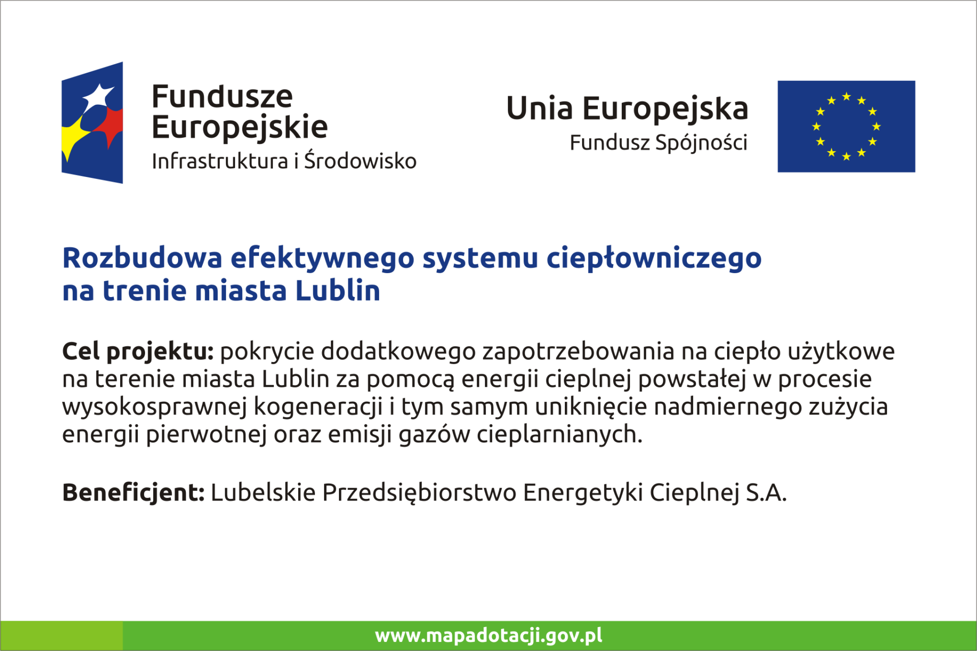 Grafika przedstawia tablice informującą o realizacji projektu UE